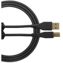 U96001BL - ULTIMATE AUDIO CABLE USB 2.0 C-B BLACK STRAIGHT 1,5M