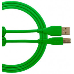 U96001GR - ULTIMATE AUDIO CABLE USB 2.0 C-B GREEN STRAIGHT 1,5M