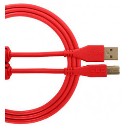 U96001RD - ULTIMATE AUDIO CABLE USB 2.0 C-B RED STRAIGHT 1,5M