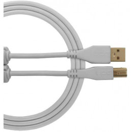 U96001WH - ULTIMATE AUDIO CABLE USB 2.0 C-B WHITE STRAIGHT 1,5M