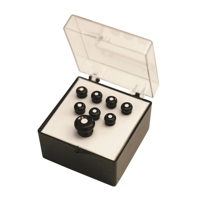 18APP21 Set Pin Black, White Inlay