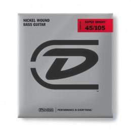 DBSBN45105 Super Bright Nickel Wound, Medium Set/4