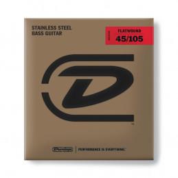 DBFS45105 Corde Flatwound per basso 45-105 Medium-4/Set