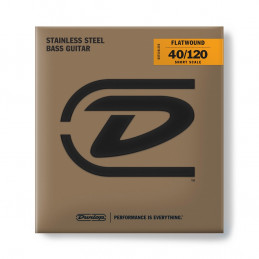 DBFS40120S Corde basso Flatwound Light Scala corta Set/5