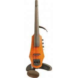 CR Electric Violin 4 Amber Stain