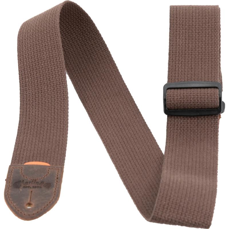 18A0105 Tracolla Cotton Weave, Brown, con Pick Holder