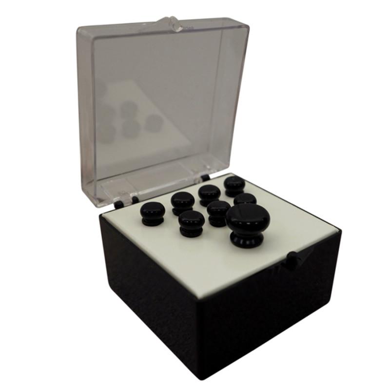 18APP18 Set Pin Black Lucidi, No Inlay
