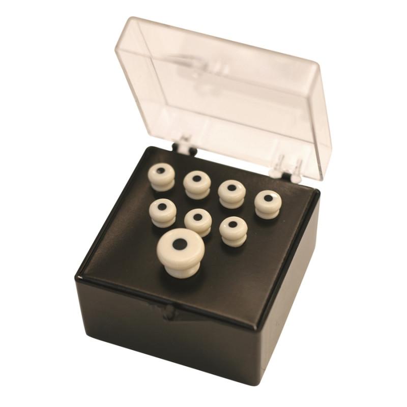 18APP28 Set Pin White, Black Inlay