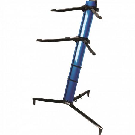 SL/913ALU BL supporto blu metallizzato per due tastiere