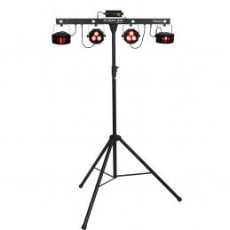 FLORIDA-BAR Set Illuminazione Par LED Multieffetto DMX