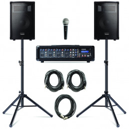 PA SYSTEM WITH STANDS