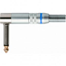 G/490 Jack 6.3 mono a 90°, slim in metallo satinato