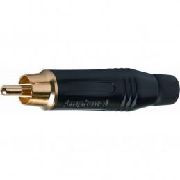 G/550 A BK RCA Amphenol in metallo color nero e contatto dorato