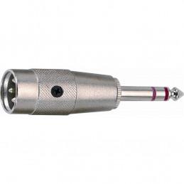 G/124 Adattatore audio Cannon XLR maschio 3 poli/Jack 6.3 mm stereo