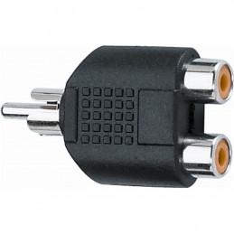 AD/270 Adattatore audio 2 RCA femmina/RCA