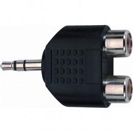 AD/273 Adattatore audio 2 RCA femmina / Jack 3.5 mm stereo