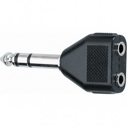 AD/23 Adattatore audio Jack 6.3 mm stereo / 2 Jack 3.5 mm stereo femmina