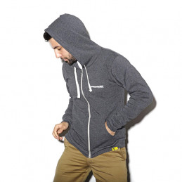 PRO MARK ZIP-UP HOODIE GREY XL