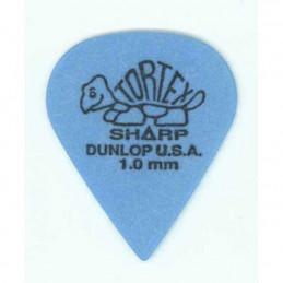 DUNLOP 412R TORTEX SHARP PLETTRO BLUE 1,00MM