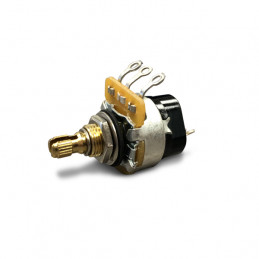GIBSON PPAT520 500K OHM AUDIO TAPER POTENTIOMETER PUSH PULL/SHORT SHAFT