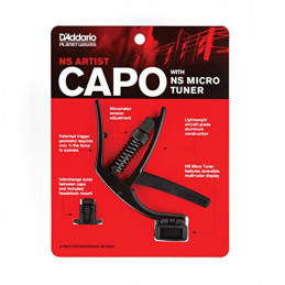 PLANET WAVES CP10NSM CAPO WITH NS MICRO TUNER - BLACK