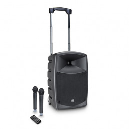 LD SYSTEMS ROADBUDDY 10HHD2B6 BATTERY POWERED BLUETOOTH SPEAKER WITH MIXER AND 2 WIRELESS MICROPHONES
