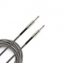 PLANET WAVES PW-BG-15 BRAIDED INSTRUMENT CABLE 4,5M BLACK/GREY