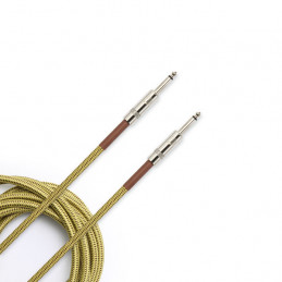 PLANET WAVES PW-BG-10 BRAIDED INSTRUMENT CABLE 3M TWEED