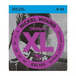 D'ADDARIO EXL120 SET DI 3 MUTE NICKEL WOUND, SUPER LIGHT, 9-42