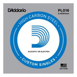D'ADDARIO PL016 PLAIN STEEL SINGLES .016