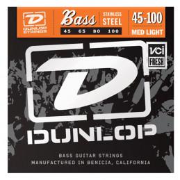 DUNLOP DBS45100 STAINLESS STEEL BASS STRINGS 45-100