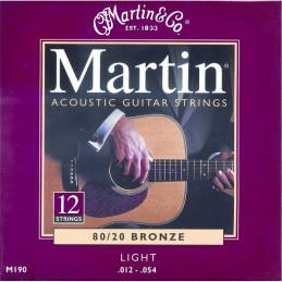 MARTIN M190 LIGHT BRONZE 12 CORDE