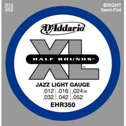 D'ADDARIO EHR 350 - HALF ROUND - JAZZ LIGHT GAUGE