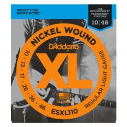 D'ADDARIO ESXL110 NICKEL WOUND, REGULAR LIGHT, DOUBLE BALLEND, 10-46