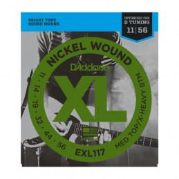 D'ADDARIO EXL117 NICKEL WOUND MEDIUM TOP/EXTRA-HEAVY BOTTOM 11-56