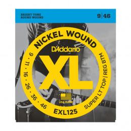 D'ADDARIO EXL125 SET DI 3 MUTE NICKEL WOUND, SUPER LIGHT TOP REGULAR BOTTOM, 9-46