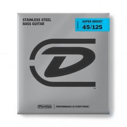 DUNLOP DBSBS45125 CORDE PER BASSO SUPER BRIGHT STAINLESS STEEL 45-125