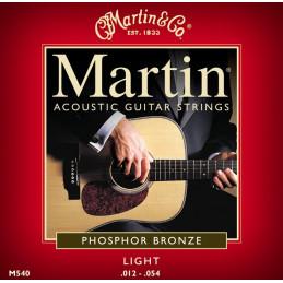 MARTIN M540 MUTA CORDE CHITARRA ACUSTICA LIGHT  PHOSPHOR BRONZE