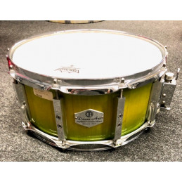 "DRUM ART 1465AC RULLANTE IN ACERO 14"" X 6,5"" TRANSP. GREEN/YELLOW"