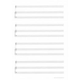 107 BLOCCO 4 RIGHI TRIPLI CANTO E PIANO