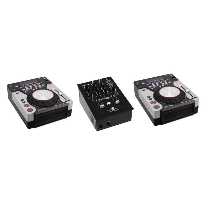 OMNITRONIC PM-222 MIXER + N°2 XMT-1400 LETTORI CD BUNDLE