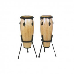 """OYSTER JBSH2-1 COPPIA CONGAS 11"""" - 12"""" NATURAL CON SUPPORTO"""