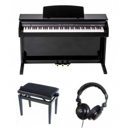 ORLA CDP101BK DIGITAL PIANO NERO LUCIDO CON PANCHINA E CUFFIA