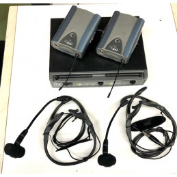 JTS US8002DH WIRELESS UHF DUAL SYSTEMS  HEADSET