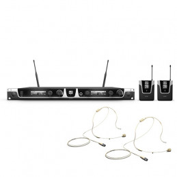 LD SYSTEMS U506BPHH2 SISTEMA RADIO DUAL BODYPACK E HEADSET BEIGE