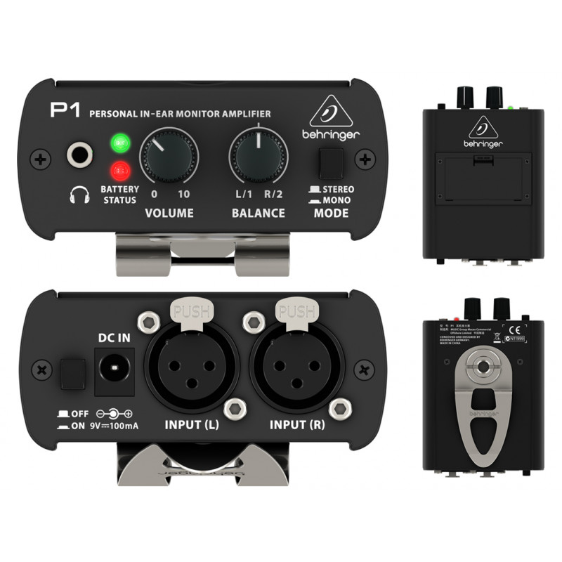 BEHRINGER POWERPLAY P1 AMPLIFICATORE PER CUFFIE