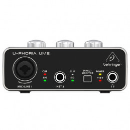 BEHRINGER U-PHORIA UM2 AUDIOPHILE 2X2 USB AUDIO INTERFACE WITH XENYX MIC PREAMPLIFIER