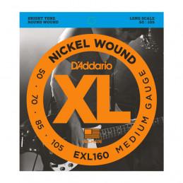 D'ADDARIO EXL160 NICKEL WOUND BASS MEDIUM 50-105 LONG SCALE