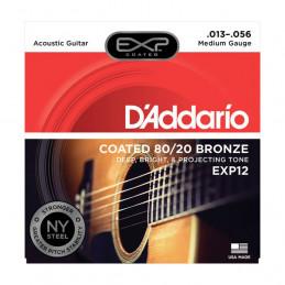 D'ADDARIO EXP12 COATED 80-20 BRONZE MEDIUM 13-56