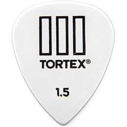 DUNLOP 462R1.50 PLETTRO TORTEX T-III WHITE